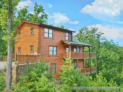 Pigeon forge cabin panoramic paradise 5 bedroom for Cabins for rent in gatlinburg and pigeon forge
