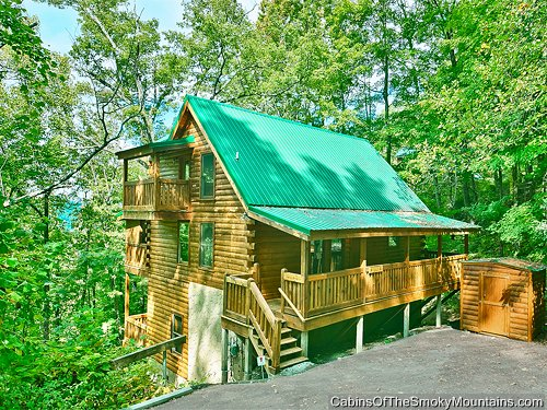 Pigeon forge cabin mountain blessing 4 bedroom sleeps 13 for 4 bedroom cabins in gatlinburg tn