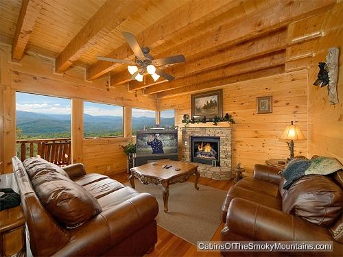 Pigeon Forge Cabin Smoky Mountain Lookout 4 Bedroom Sleeps 14