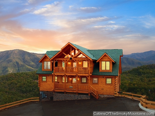 Pigeon forge cabin greenbriar grace 5 bedroom sleeps 14 Cabin rental smokey mountains