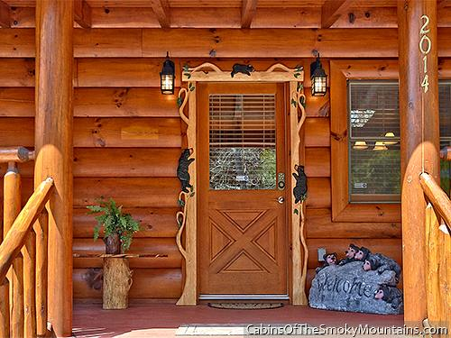 Log cabin in the Smoky Mountains...Cute rustic trim around the ...