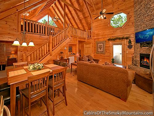 Pigeon Forge Cabin Enchanted Forest 2 Bedroom Sleeps 8 Jacuzzi Swimming Pool Access