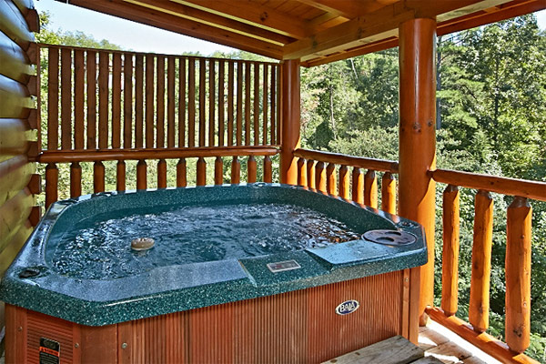 Pigeon forge cabin bearfoot memories 2 bedroom for Pigeon forge cabins with hot tub