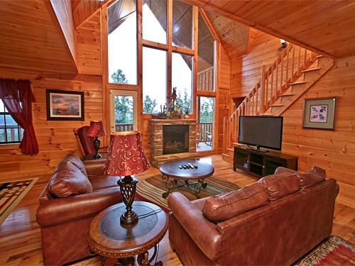 pigeon forge cabin panoramic view 6 bedroom sleeps 16