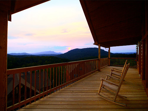pigeon forge cabin private sunsets 2 bedroom sleeps