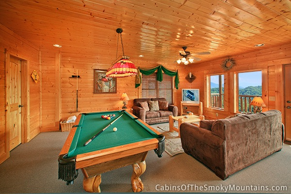 Pigeon forge cabin happy place 1 bedroom sleeps 8 for 1 bedroom cabin rentals in pigeon forge
