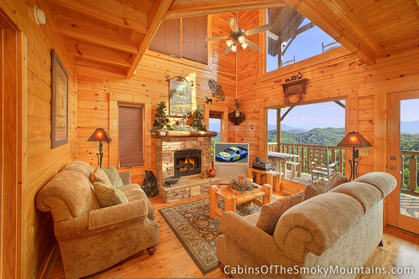 Pigeon forge cabin happy place 1 bedroom sleeps 8 for 1 bedroom cabin pigeon forge