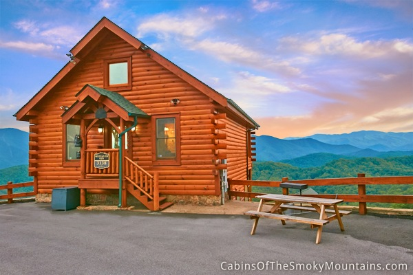 Mountain top mountain top view cabin for Best mountain view cabins in gatlinburg tn