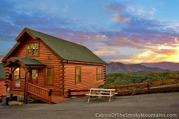 Pigeon forge cabin mountain top view too 2 bedroom Best mountain view cabins in gatlinburg tn