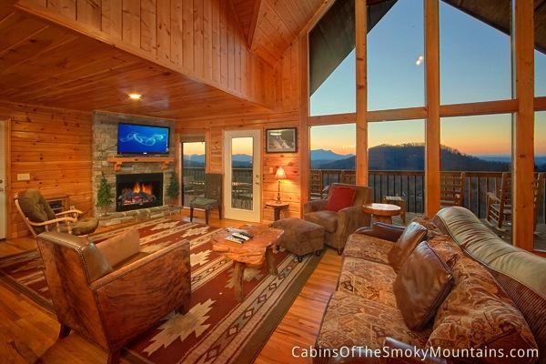 Pigeon forge cabin highlander lodge 6 bedroom sleeps 15 - 6 bedroom cabins in pigeon forge tn ...