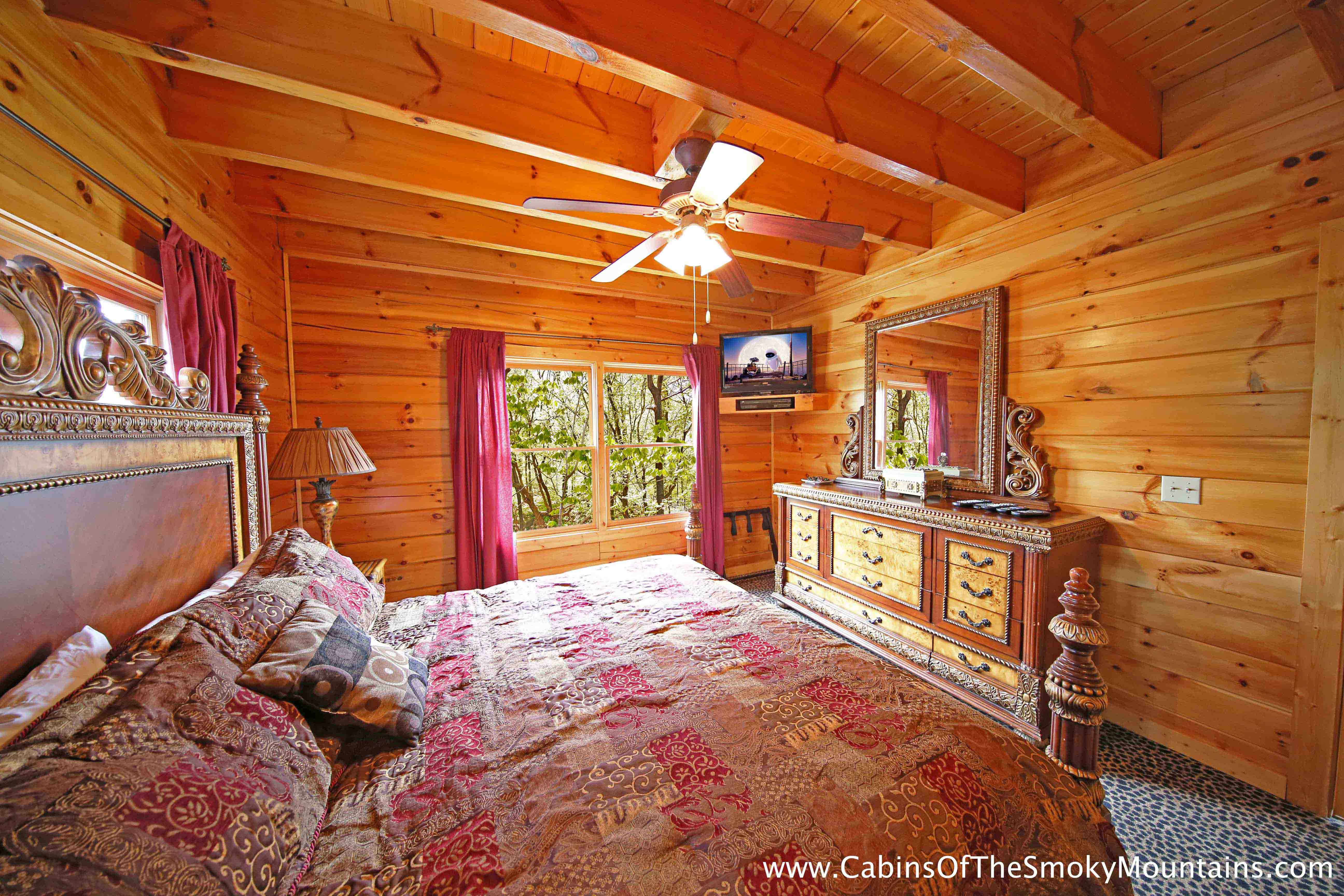 Pigeon Forge Cabin A Memorable Night 1 Bedroom Sleeps 6
