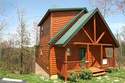 Pigeon forge cabin moonlight ridge 1 bedroom sleeps 4 for Smoky mountain ridge cabins
