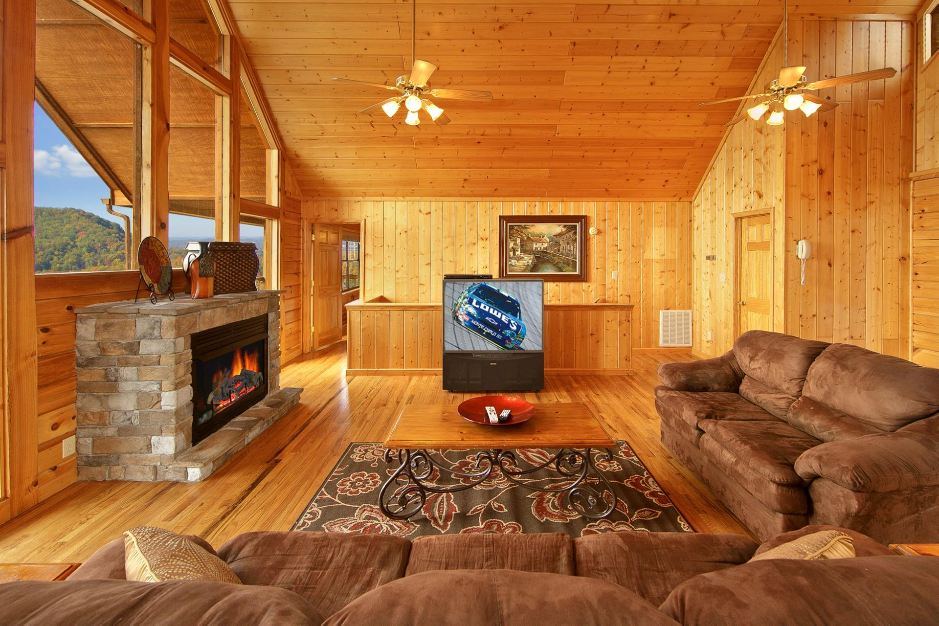 Pigeon forge cabin heaven 39 s corner 7 bedroom sleeps 16 - 7 bedroom cabins in pigeon forge ...