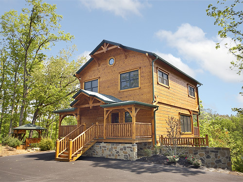 Pigeon forge cabin the treehouse 3 bedroom sleeps 10 for 3 bedroom cabins in gatlinburg tn