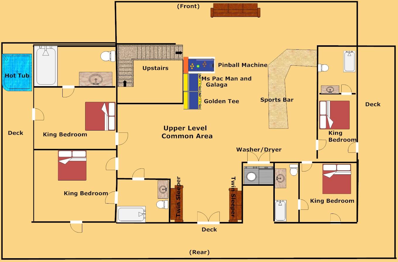 1 Bedroom Cabin In Gatlinburg Tn Pigeon Forge Cabin Buckingham Palace 9 Bedroom Sleeps 28